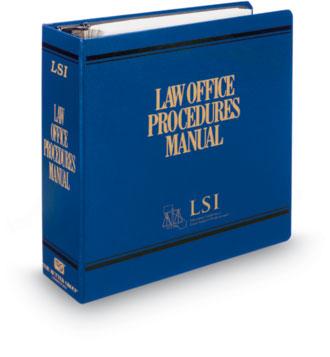 law office procedures manual legal secretaries inc lsi legal
