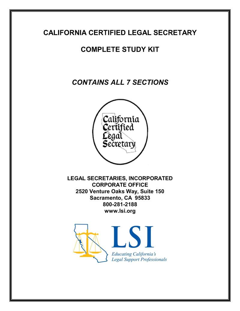 Educational Materials Legal Secretaries Inc Lsi Legal