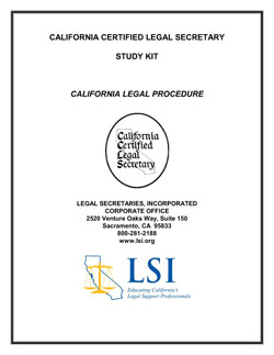 California Legal Procedure (CLP)