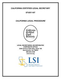 California Legal Procedure (CLP)