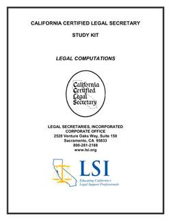 Legal Computations (LC)